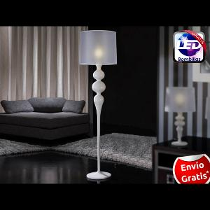 Schuller pie salon lena led blanco - Lamparas schuller catalogo ...