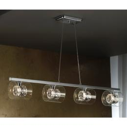 Lampara Flash Schuller - 4 tulipas en linea - LED