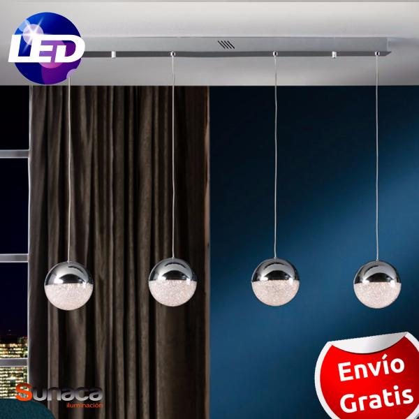Lampara Sphere Schuller 4 bolas LED.
