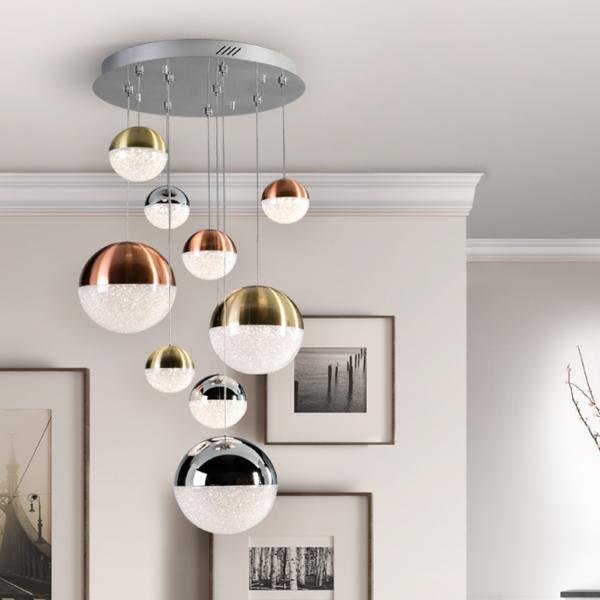 Lampara Sphere Schuller - colores 9 bolas LED