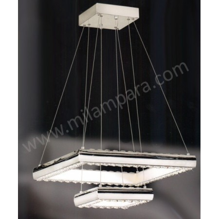 Lampara de techo led cuadrada doble - Lamparas schuller catalogo ...