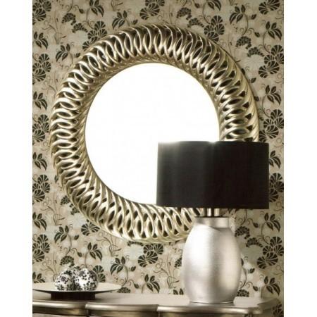 Espejos de pared modernos con marco madera for Espejo redondo grande