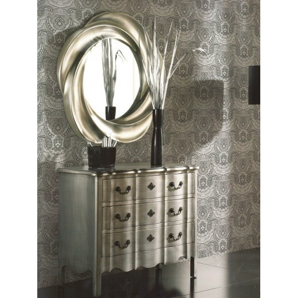 Espejo redondo formas pan de plata 95cm for Espejo grande redondo
