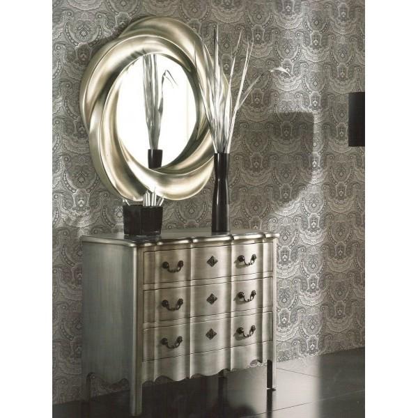 Espejo redondo formas pan de plata 95cm for Espejo redondo con marco