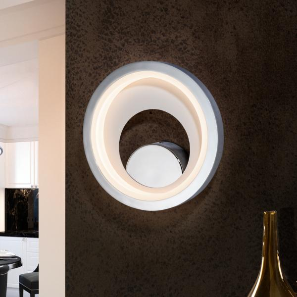 Aplique pared Laris Schuller - acabado cromo  luz LED