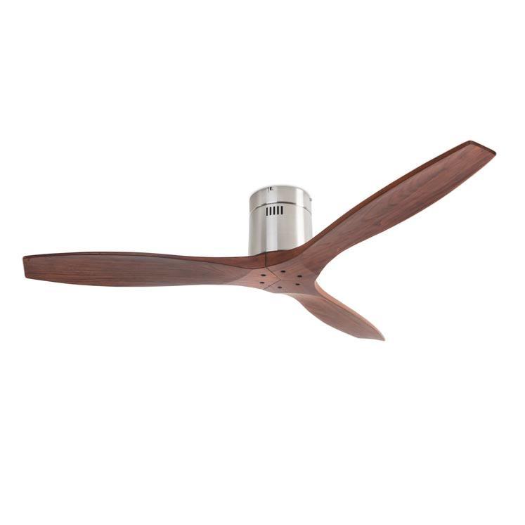 Leds c4 ventilador stem nogal sin luz ventilador motor dc - Ventiladores de techo de madera ...