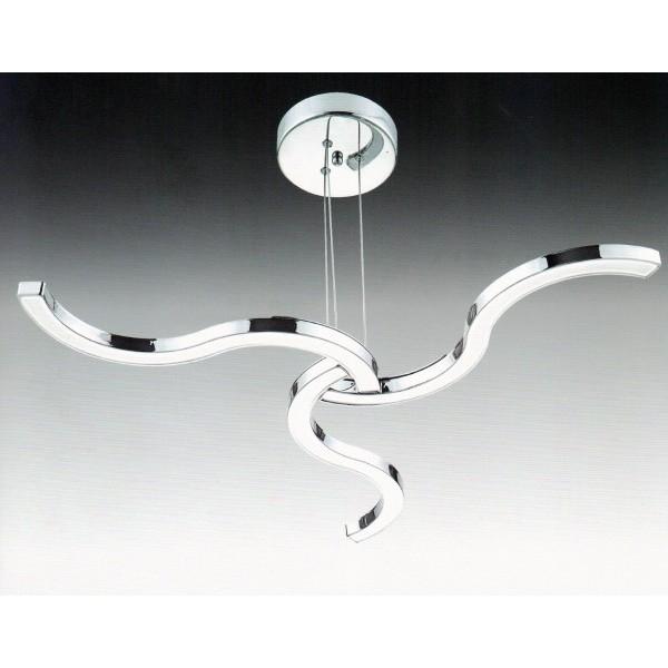 Lamparas Para Baño De Led:Lampara de techo 3 brazos LED cromo MUÑOZ E HIJOS