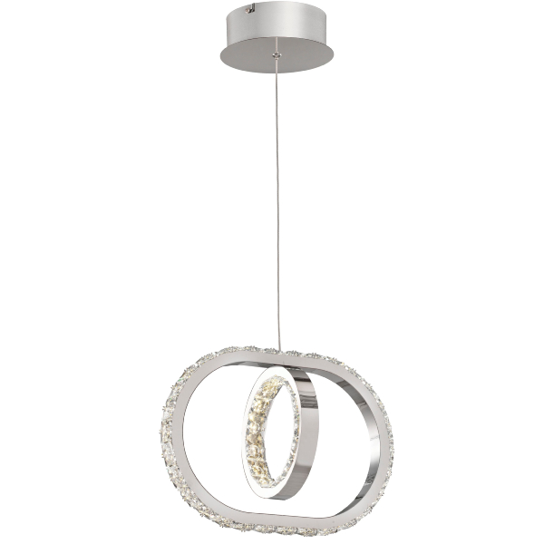 Lampara Monaco Acontract-luz. 1 aro + E. Oval LED