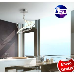 Lampara de techo LED. Oval doble, serie Nur.   MANTRA
