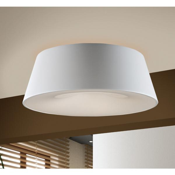 Plafón Zone Schuller - Metal blanco luz LED