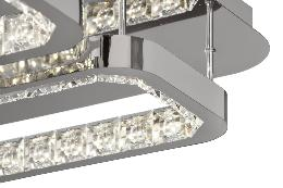 Plafon Moravia Acontract-luz. 2 rectangulos de luz LED