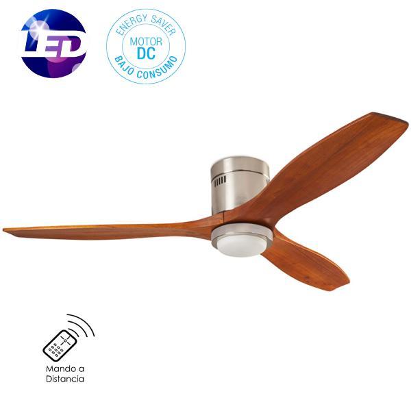 Leds c4 ventilador stem nogal con luz ventilador motor dc - Ventilador bajo consumo ...