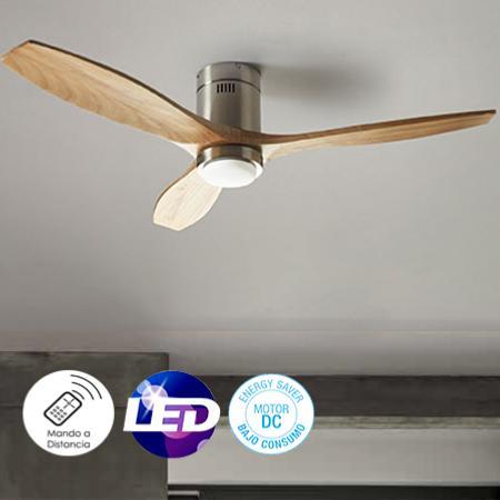 Leds c4 ventilador stem pino con luz ventilador motor dc - Ventilador bajo consumo ...
