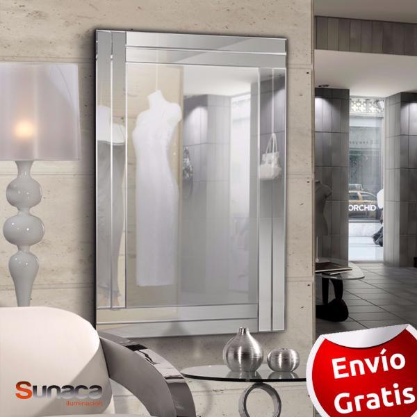 Espejo avenue schuller espejo marco cristal biselado for Espejo marco cristal