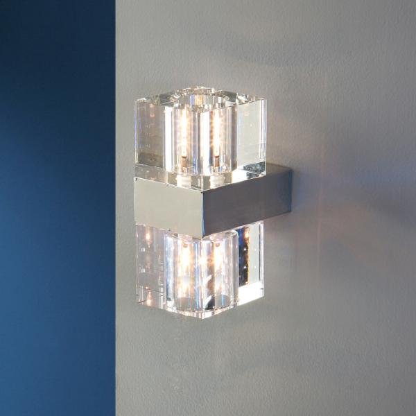 Aplique Cubic Schuller - 2 luces cristal - LED