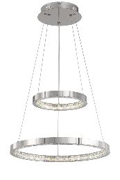 Lampara Bohemia Acontract-luz. 2 aros concentricos LED.