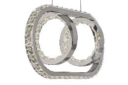 Lampara Monaco Acontract-luz. 2 aros + E. Oval LED