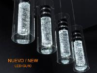 Lampara de techo lineal 4 luces LED Bubble.   SCHULLER
