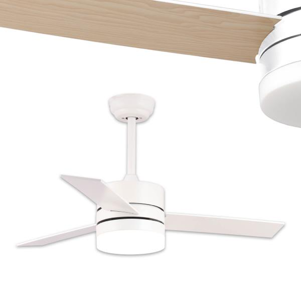 Ventilador Ainsa Zima Lighting - Blanco Ø110cm LED