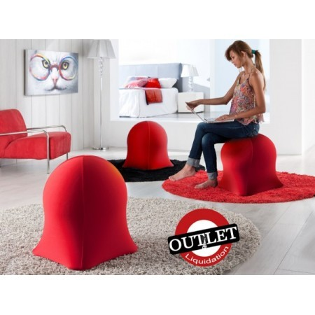 PUFF SILLON HINCHABLE ROJO.
