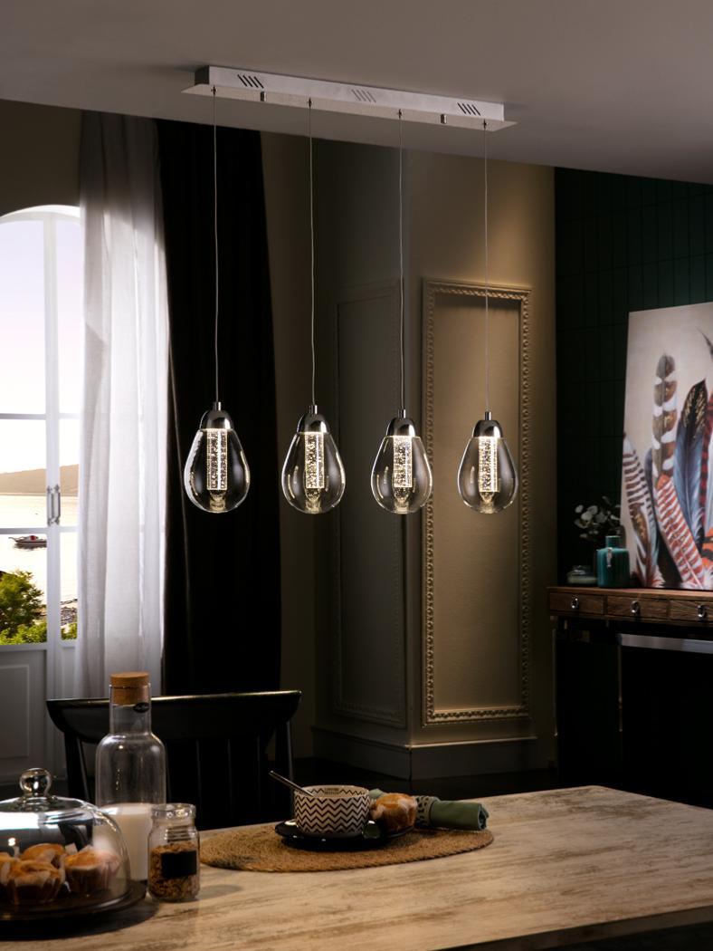 Lampara taccia schuller 4 colgantes luz led 394460 - Lamparas schuller ...