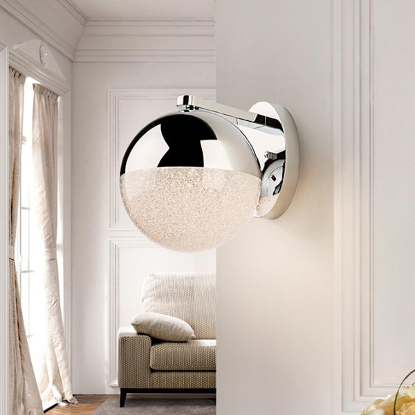 Aplique pared Sphere Schuller - 24cm. cromo 1L. LED