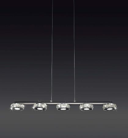 Lampara lineal Crystal LED.  MANTRA