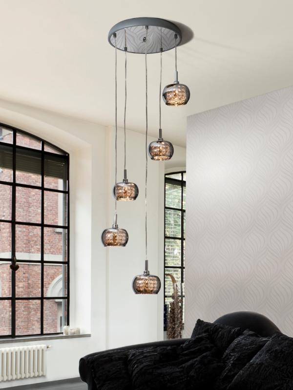Schuller arian lampara 5 colgantes espejo led 193364 - Lamparas para espejos de bano ...