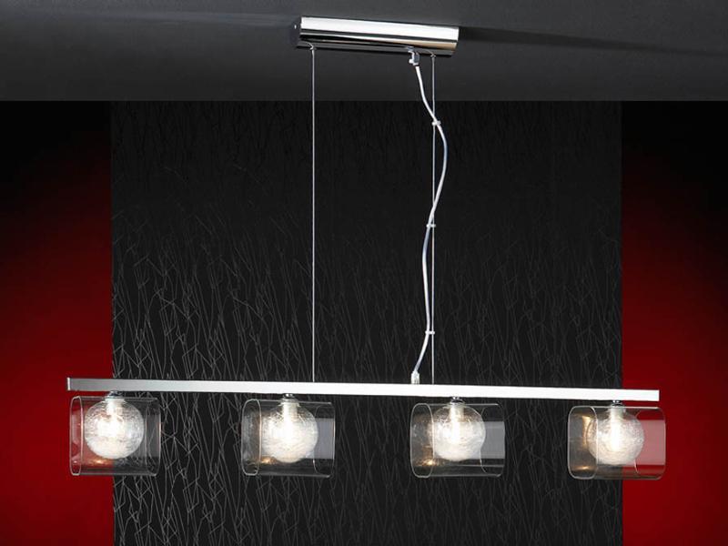 Schuller eclipse lampara lineal 4 focos bola cristal - Lamparas originales de techo ...