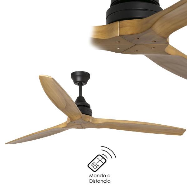 Faro alo ventilador alo sin luz led y aspa de madera 33718 - Ventiladores de techo de madera ...
