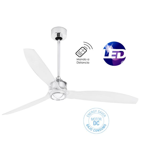 Ventilador Just Fan FARO transparente 128cm.Ø + Kit de luz.