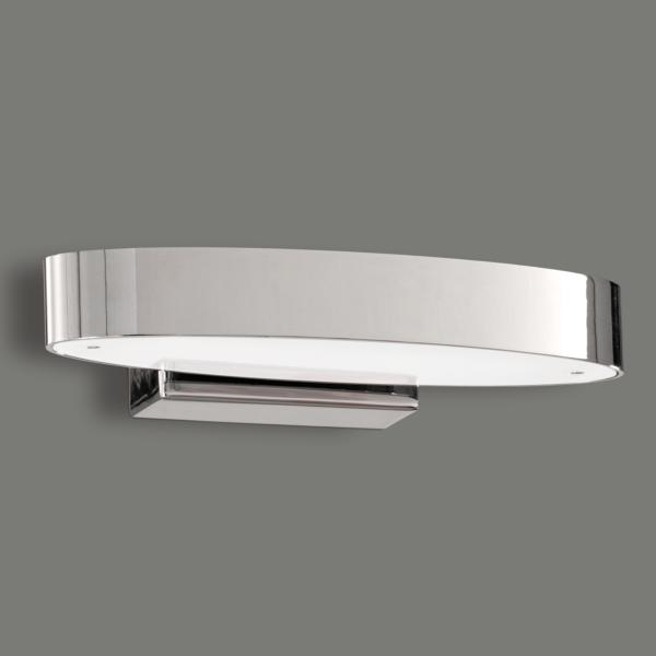 Aplique de pared LED ovalado cromo ASTOR. ACB