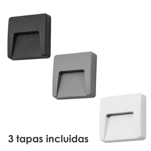 Aplique exterior Grove Forlight - Blanco, gris y negro - LED