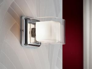 Aplique de pared 1 luz Cube.   SCHULLER
