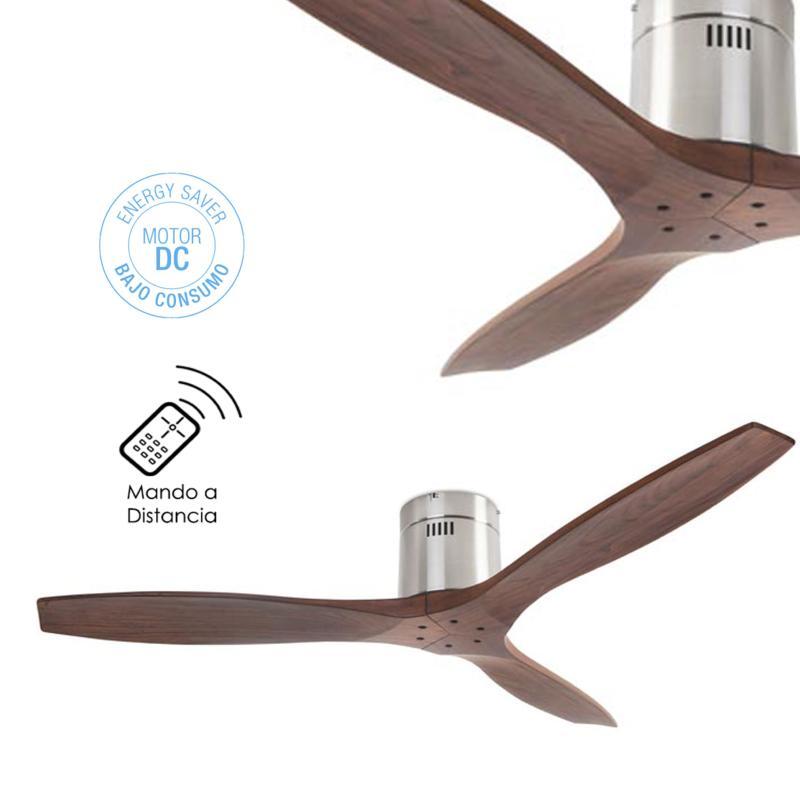 Leds c4 ventilador stem nogal sin luz ventilador motor dc - Ventilador bajo consumo ...