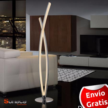Lampara de pie LED graduable. Serie Linur Schuller