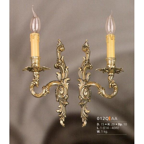 Riperlamp aplique bronce serie apliques - Apliques de pared clasicos ...