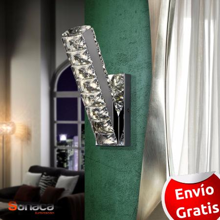 Aplique Diva Schuller. aplique LED vertical cristal