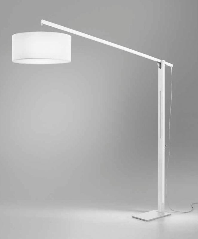 Brilliance lampara de pie articulada mastil sunaca - Lampara de pie madera ...