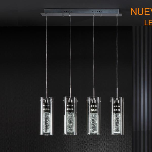 Lampara Bubble Schuller - 4 colgantes en linea - LED