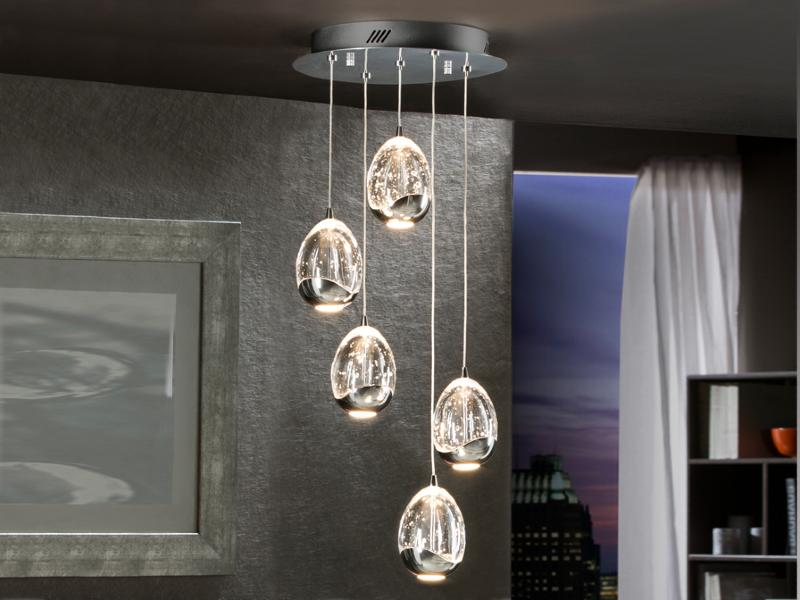Rocio schuller l mpara de techo led cromo - Catalogos de lamparas de techo ...